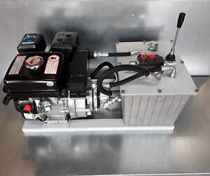Hydraulikaggregat mit Kühler - 6,5PS Benzinmotor - 6,5ltr/min 250bar - 20l Tank