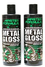 NEW Master Formula Metal Gloss Polish Auto Motorcycle Chrome Polish 2 Bottles