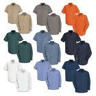 Red Kap Work Shirt 100% Cotton 2 Pocket Men's Durable Industrial Uniform