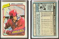 Greg Luzinski Signed 1980 Topps #120 Card Philadelphia Phillies Auto Autograph