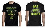 OVERKILL cd lgo Wings of War BAT SH!T CRAZY Official SHIRT LARGE New OOP