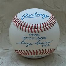Official Ball Midwest League Baseball Vintage Early 2000s George Spelius