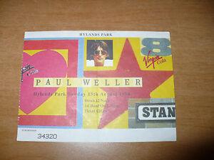 BIGLIETTO TICKET CONCERTO PAUL WELLER HYLANDS PARK 18 AUGUST 1996