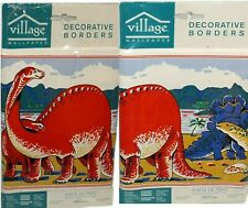 Paleozoic Dinosaurs Decorative Wall Border 5 Yards New Factory Sealed Vintage