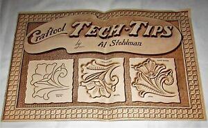 Vintage Tech-Tips AL STOHLMAN Leathercraft Tooling Pattern Book Western Horse