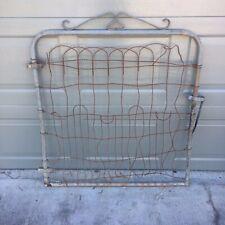 Architectural Salvage Metal Braided Wire Antique Garden Fence Gate Vtg Trellis