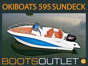 Bootsoutlet Motorboot Sportboot Okiboats 595 Sundeck Angelboot Boot Mercury