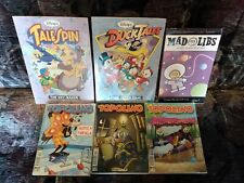 Topolino (3), DuckTales (2) + Mad- 6 rare books-  listed in Description