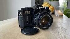 Stunning Black Canon AE-1 Program 35mm Camera with Canon FD 50mm lens - VGC+