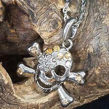Skull Jewelry Biker Rocker Chain Pendant Necklace Stainless Pierced Earring