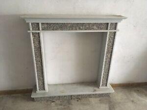 Elegantissima Cornice Camino Marmo Granito Old Fireplace Marble