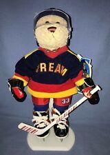 "Brass Button Bears Sports Bear  Hockey Player Bear 12"" Flash"