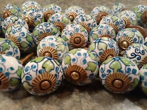 Hand Painted Knobs By Anthropologie