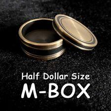 M-BOX HALF DOLLAR SIZE with KENNEDY COIN SHELL QUALITY OKITO BOX MAGIC TRICK