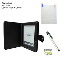 Set: Etui, Stylet & Film de protection pour Cybook Odyssey HD E Book Etui - noir