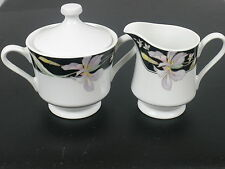 Bone China Creamer & Sugar Bowl Set  Baker, Hart and Stuart Lauren Floral