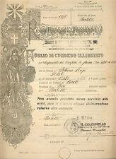 032 Foglio di Congedo Illimitato - Comando Militare Barletta - R.Es.IT 1932