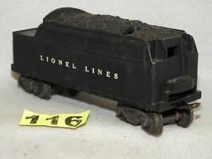 LIONEL POST WAR #6466W WHISTLING COAL TENDER BEING OFFERED FOR REPAIR