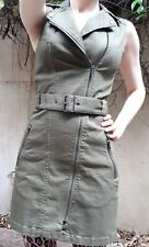 Zip front denim flare and fitted dress H&M Divided, size EU34 UK6 NEW With Tags