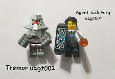 Lot of 2 Lego Minifig:  Jack Fury & Tremor - Ultra Agents - from 70161