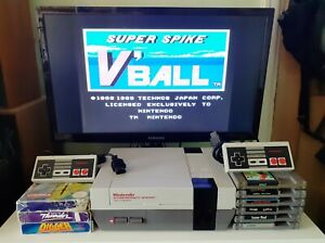 Nintendo NES console bundle with 10 games and 2 controllers