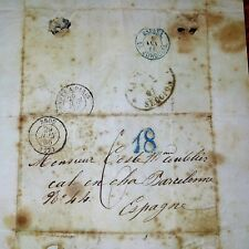 LOT OF 31 MANUSCRIPT LETTERS. ORIGINAL STAMPS AND BUFFERS. FRANCE. C.1850