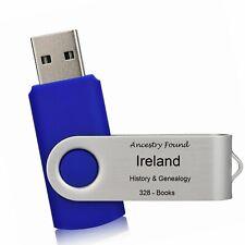 IRELAND -  History & Genealogy - 328 Books on FLASH DRIVE USB - Family Records