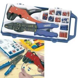 Draper 33079 Electricians Crimping Tool & Wire Stripper Kit Crimper/Terminal Set