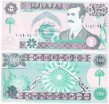 Irak 100 Dinars P-76 1991 UNC Saddam Hussein dictateur billet