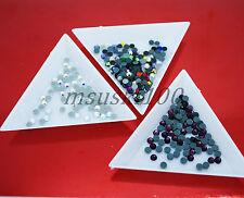 3 x Triángulo de clasificación bandejas de Diamantes de Imitación Diamante Cristal De Nail Art Crafts