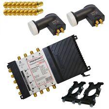 PremiumX Sat Multi Interruttore 9/8 HD Digital switch per 8 partecipanti 2x Quattro LNB