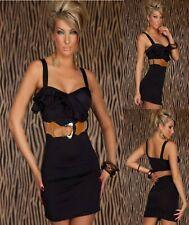 Sz 8 10 Black Sleeveless Office Formal Cocktail Party Wear Club Prom Minidress