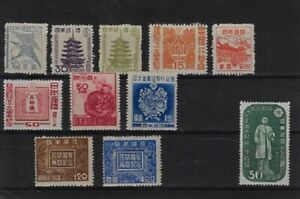 Japan: Little good lot of stamps, some high values, Mint Hinged, EBJP020