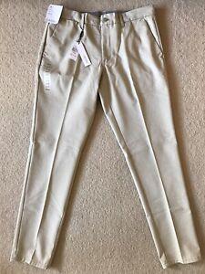 Calvin Klein Men Chino Slim Pants Beige New 36/32