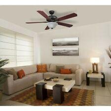 Harbor Breeze Crosswinds Oil Rubbed Bronze 52-in Indoor Ceiling Fan (5-Blade)