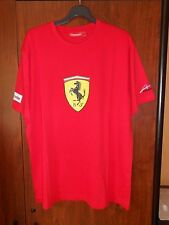 tee-shirt écusson fernando alonso scuderia FERRARI rouge taille L - neuf