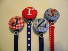1 Personalized Pacifier Holder Custom Monogrammed Paci Clip Handmade Boy or Girl