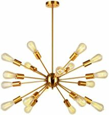 Sputnik Chandelier Brass 18 Light Mid Century Modern Pendant Lighting