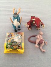 TOMY Pose Figure Lot: Cobalion, Mewtwo, Groudon