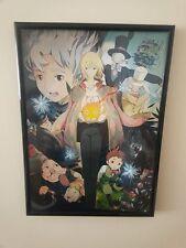 Il CASTELLO ERRANTE DI HOWL, Hayao Miyazaki A4 Poster incorniciato 260GSM