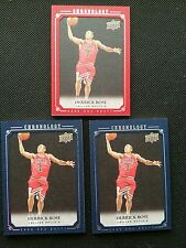 DERRICK ROSE 2007-08 UPPER DECK CHRONOLOGY SILVER ROOKIE LOT (3) RC #/99NON-AUTO