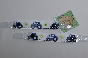 Mitten clips glove savers girl boy child blue tractor farm like ford xmas gift