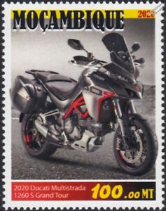 2020 DUCATI MULTISTRADA 1260S Grand Tour Motorcycle Motorbike Stamp (Mozambique)