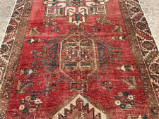 New listing 3x11 Red Antique Runner Rug Wool Hand-Knotted vintage handmade geometric 3x10 ft