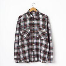 Vintage Flanell Hemd Gr L Large Herren Kariert Karohemd Flanellhemd