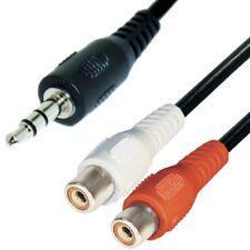 Audio Kabel 0,2m 3,5mm Klinke Stecker auf 2 Cinch Buchsen Adapter stereo kcv