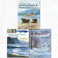 Terry Harrison Painting Watercolour Collection 3 Books Set Snow Scenes the Easy