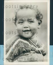 1930 Native American Papoose Stella Golden Star White Grass of MT Press Photo