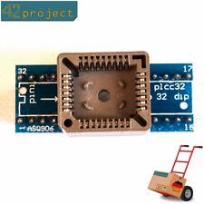 QFJ32 PLCC32 zu DIL DIP 32 1:1 Programmier-Adapter 32 Pin SMD Breadboard komp.