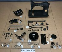 1952 Singer 128 Sewing Machine Parts Lots Replacement Repair Restore Black side